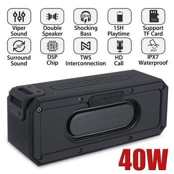 Waterproof Bluetooth Speaker 40W support TWS Interconnection 1