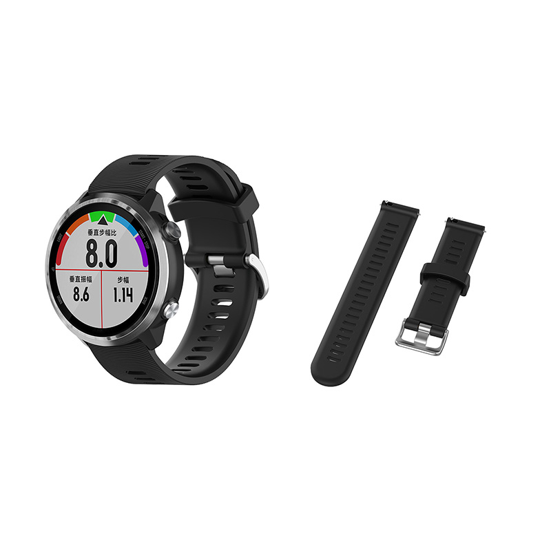 Watchband For Garmin Forerunner Watch Silicone Wrist Band Strap With Hole Buckle Design Adjustable Wrist Band Replacement
