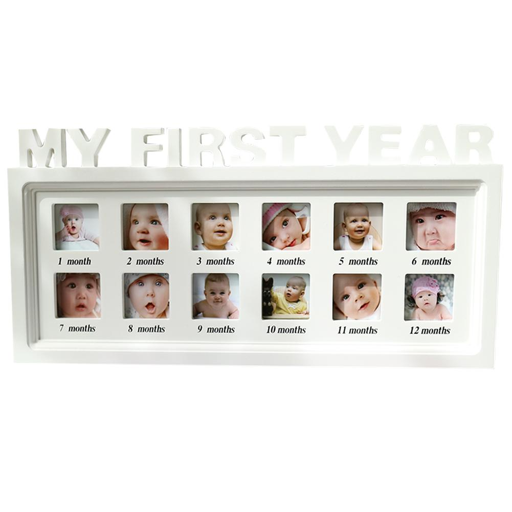 Baby Creative Photo Frame Album Baby Commemorative Baby Growth Memorial December Growth Dust Wood Frame Hanging Wall Table