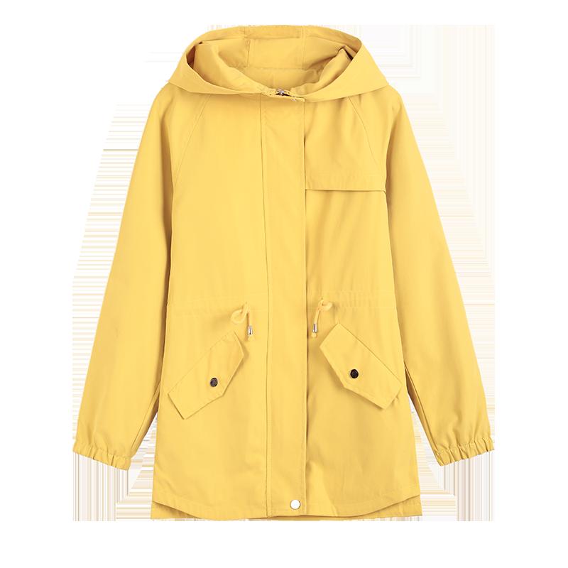 DHfinery Autumn coat female short paragraph 2019 new early autumn ins tide Korean version loose wild casual jacket windbreaker 6