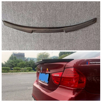 UBUYUWANT For BMW E90 3 Series 2005-2011 M4 STYLE Spoiler Wing Auto Racing Car Styling CARBON FIBER Tail Trunk Spoiler Wing image