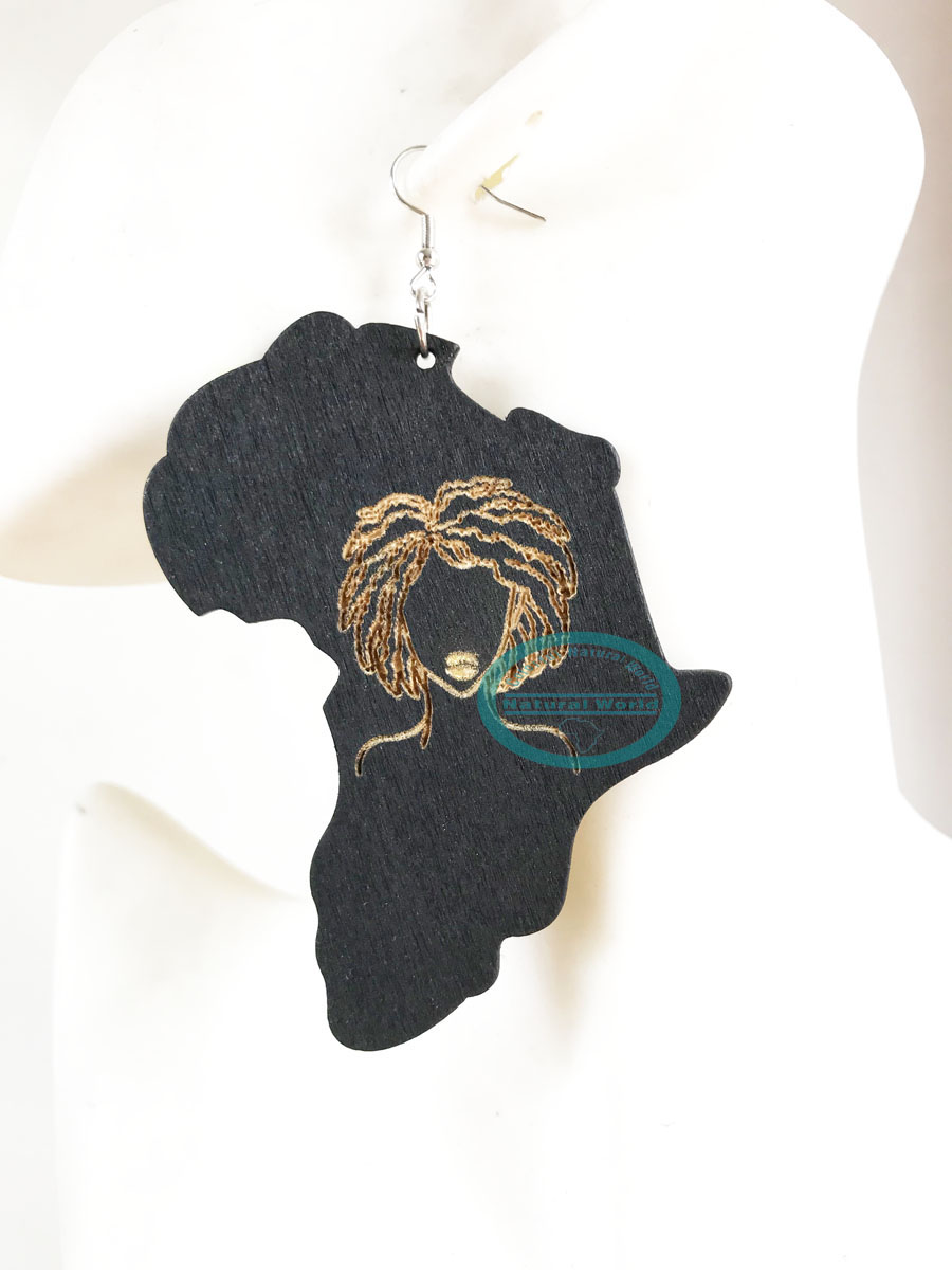 Ethnic Lrregular Wood Drop Earring American African Women Love Locs Natural Hair Wooden Dangle Earring For Female Jewelry Drop Earrings Aliexpress