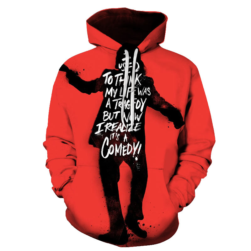 Joker Hoodie Men's 2019 New 3D Printed Fashion Sweatshirts Casual Hip-hop Men's And Women's Clothing Streetwear Large Size S-6XL