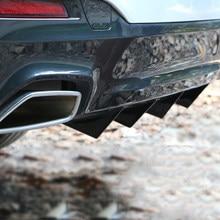 4PCS Neue Mode Ankunft Universal Auto Hinten Stoßstange Diffusor Auto Zurück Bumper Spoiler Splitter Auto-Styling Auto Zubehör