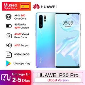 Глобальная версия смартфона Huawei P30 Pro, 8 Гб 256 ГБ, Восьмиядерный процессор Kirin 980, четырехъядерная камера с цифровым зумом 50x, полный экран 6,47 дю...