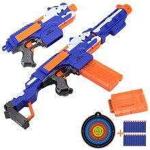 Jouet de fléchettes électriques Airsoft pour pistolet Nerf, balles en mousse à tête de trou de 7.2CM, ventouse sûre pour les garçons
