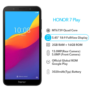 Image 2 - Original Honor 7 Play 2G 16G 4G LTE MT6739 Quad Core 5.45 Inch 1440*720P 13.0MP Android 8.1 OTA Update Mobile Phone