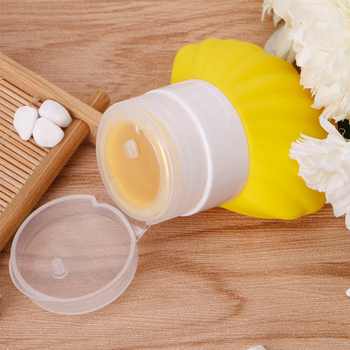 Botella de viaje vacía de 40ml con forma de concha de silicona para champú, loción, contenedor de cosméticos, lindo tubo anticontaminación, portátil, fácil de llevar