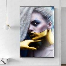 Современные художественные плакаты и принты для портретов настенная