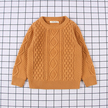 Girls Sweater Toddler Boys Winter Tops Clothes Baby Knit Cardigan Children popcorn Sweaters Ribbed Pullover 12M-7 Years