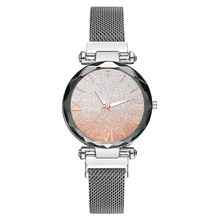 Vansvar Women Girl Watches часы женские Magnet Stone Swan Diamond Lady Transfer Watch Quartz Women's Watch relojes de mujer relo(China)