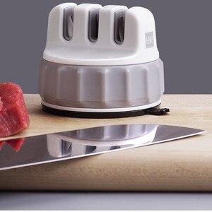Image 3 - Norma Mijia Youpin Huohou Mini Affilare i coltelli con Una sola mano Affilatura Sharpener Attrezzo Da Cucina di Aspirazione Eccellente