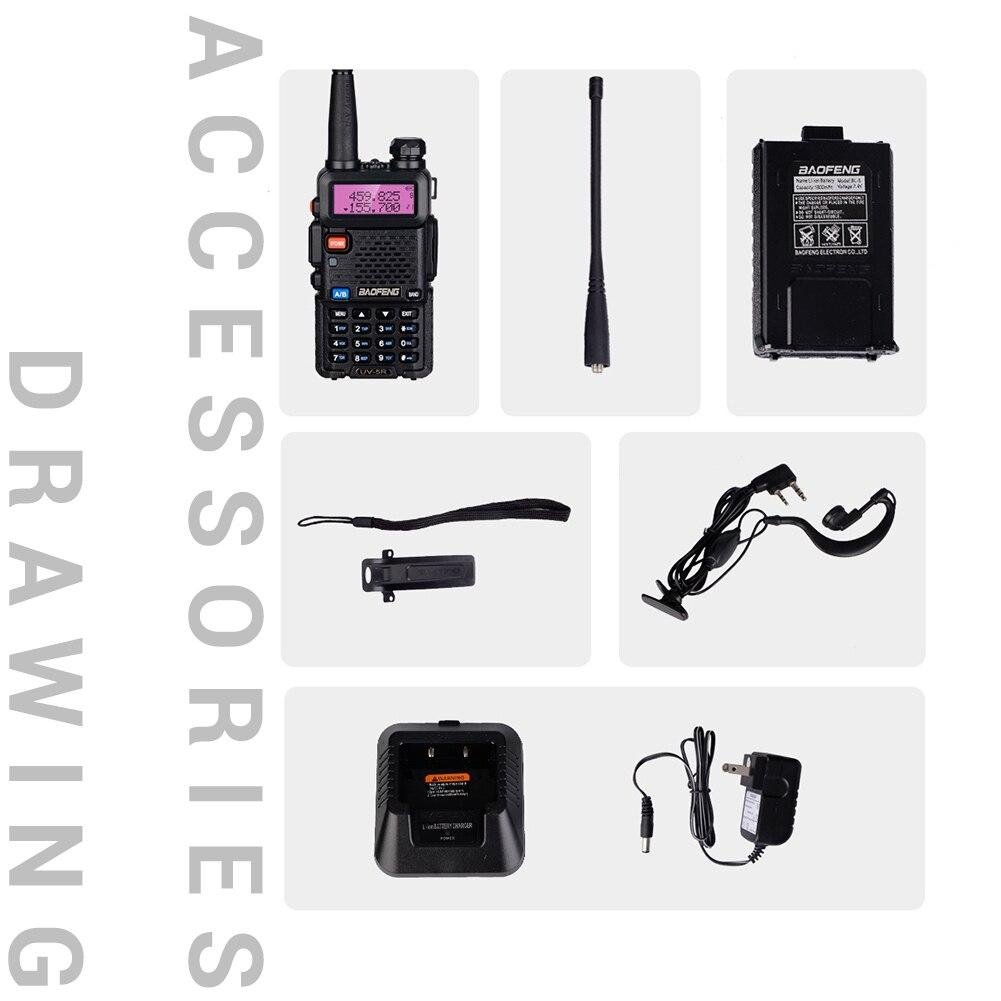 Baofeng/ Pofung UV-5R Two Way Radio Walkie Talkie 5W 128 CH VHF UHF Dual Band 136-174 & 400-520MHZ FOR BMWE39E46CARAccessories
