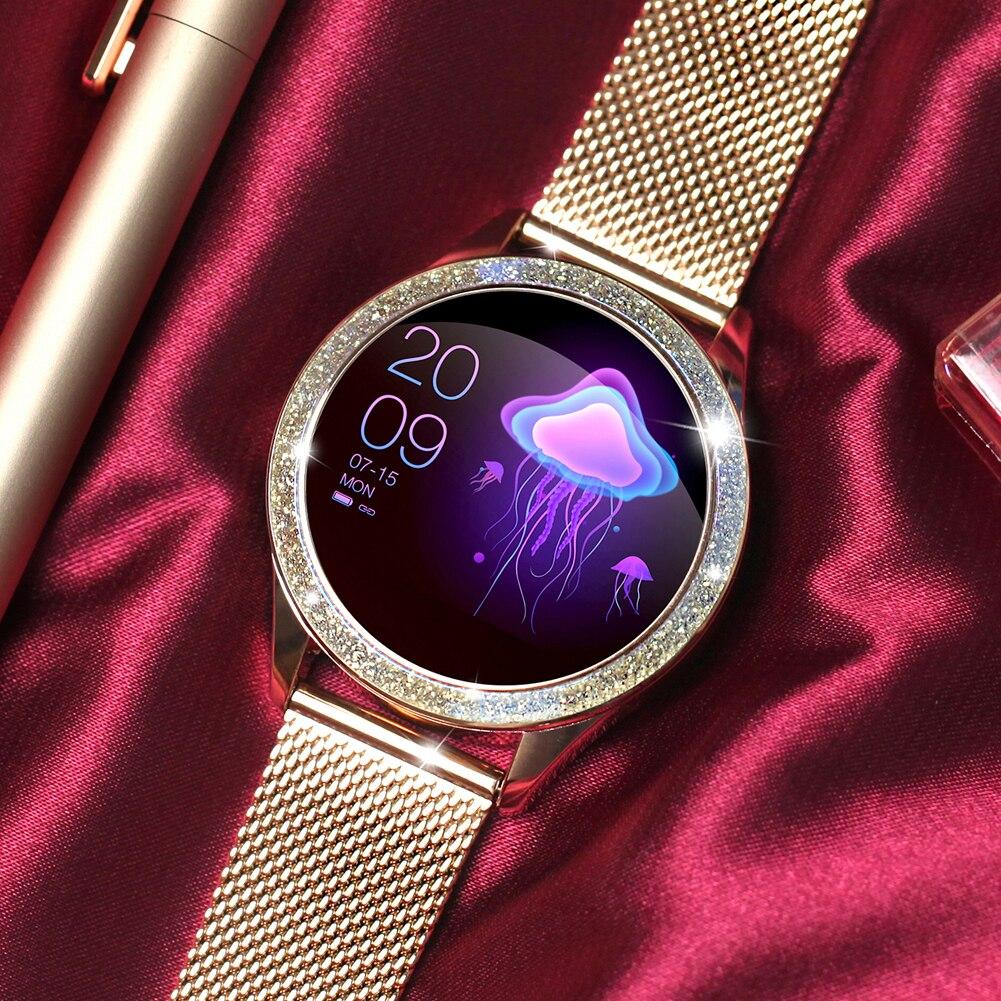 KW20 IP68 Montre de Sport pour Femme Intelligente Waterproof Bluetooth Application Santé