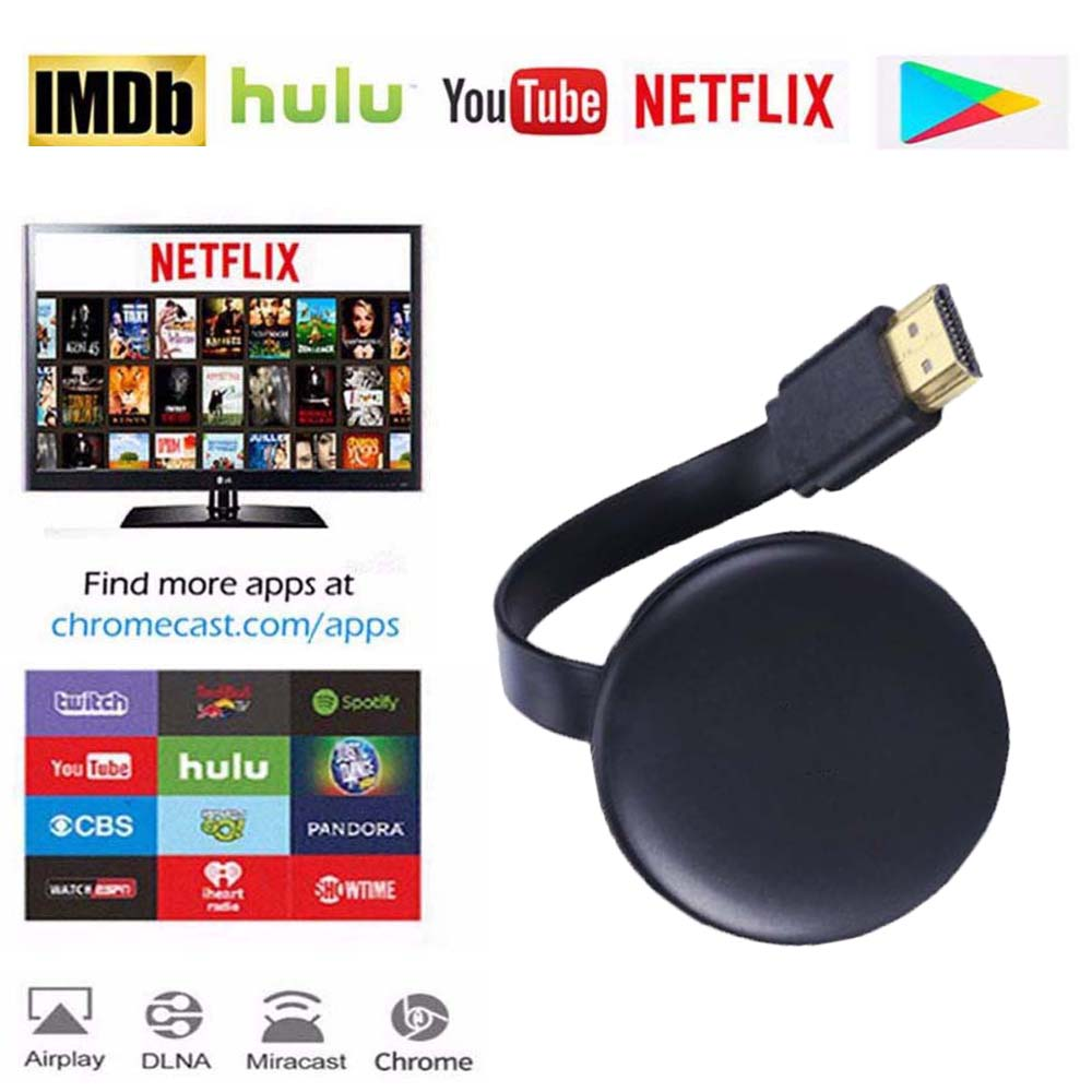 WiFi Display HD Screen Mirroring Dongle Receiver For Google Chromecast 2 3 Chrome Crome Cast Cromecast 2 HDMI TV Stick Video