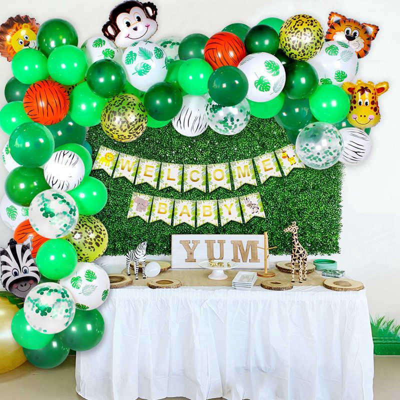 FENGRISE hayvan balonlar doğum günü Jungle Safari partisi Globos orman doğum günü partisi tema parti balon çocuklar için doğum günü balonları