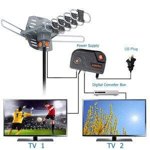 Image 4 - 150 Miles 360 degrés HD antenne de télévision extérieure numérique pour la pleine HDTV DVB T UHF VHF FM haut Gain Signal fort antenne de télévision extérieure