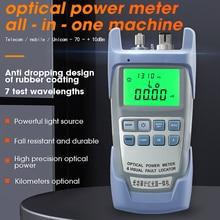 AUA 9A Alle In Een Optische Power Meter Met Visual Fault Locator Glasvezel Tester 5Km 10Km 20Km 30Km Vfl 1/10/20/30Mw