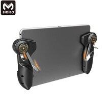 Bir çift MEMO altı parmak süper oyun tetik joystick PUBG mobil oyun Tablet için Tablet için Android iOS telefon oyun oyun klavyeler