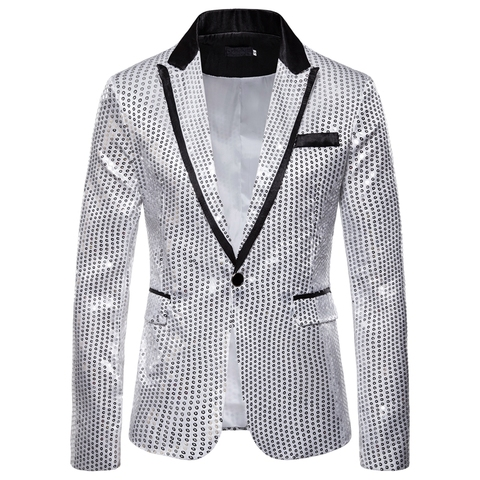 Laamei Male Master Sequins Dresses Stage Costumes Men Suit   Clothing  Suits & Blazer Show Jacket Outerwear Multan