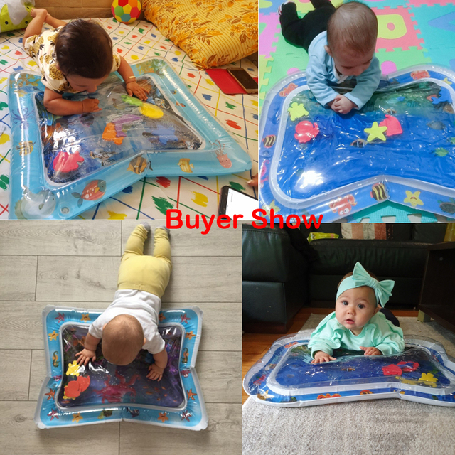 Inflatable Infants Tummy Time Activity Mat Baby Play Water Mat Toys for Kids Mat Summer Swimming Beach Pool Game Baby Gyms Mat 5
