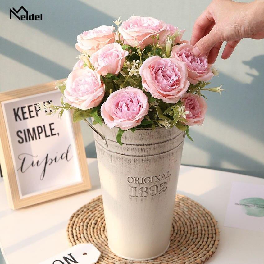 Meldel Свадебный букет для подружек невесты искусственный букет невесты розы свадебные цветы Свадебный букет свадебные аксессуары