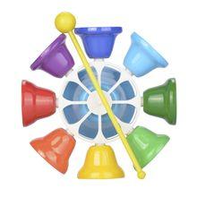 Колокольчики для студентов и школьников, красочные, чистые, звуковые, многоцелевые, октавы, обучающие средства, ударный инструмент, ручной колокольчик, шумогенератор