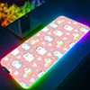 Cute Mouse pad RGB Gaming Accessories Computer Large 900x400 Mousepad Gamer Rubber Carpet With Backlit Play CS GO LOL Desk Mat