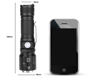Image 3 - Flash Light Torch Led Flashlight 1* 18650 Or 26650 Rechargeable Battery Xhp70 Shock Resistant,hard Defense Bulbs Zoom In