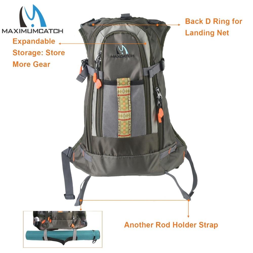 Maxcatch Fly Fishing Vest Backpack Multi-pocket Chest Mesh Bag Adjustable Size