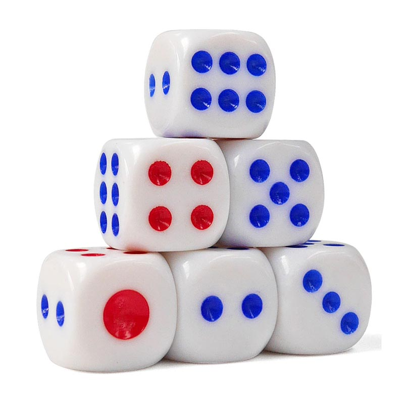Hot Sale 10Pcs/Set Standard Plastic 10mm Game White Dice Die Drop Shipping Wholesale Price Game Dice MVI-ing