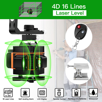 16 Lines 4D Laser Level green line Self-Leveling 360 Horizontal And Vertical Super Powerful Laser level green Beam laser level leter 12lines 3d laser level 360 laser electronic leveling laser beam line