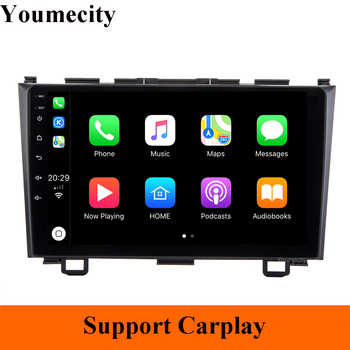 Car DVD Player GPS for Honda CRV 2006 2007 2008 2009 2010 2011 wifi Video radio 1024*600 2GRAM Android 9.0 2DIN Carplay TPMS