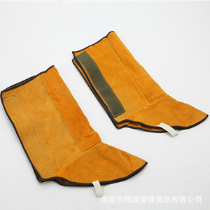 Image 4 - Cattlehide Welding Leather Long Shoes Boots Welding Fire Protection Foot Welder Foot Cover Wear Insulation Safety Work Shoes