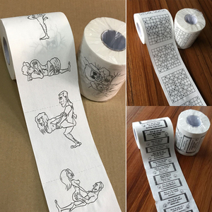 Toilet Paper Bulk Rolls Bath Tissue Funny Printed Toilet Paper Bathroom White Soft 3 Ply Paper Gift