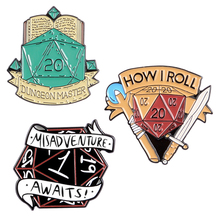 20 DnD Enamel Pins Custom Game Brooch Lapel Pin Shirt Bag Badge Dragon and Dungeon Jewelry Gift for Fans Friends 20 dnd enamel pins custom game brooch lapel pin shirt bag badge dragon and dungeon jewelry gift for fans friends