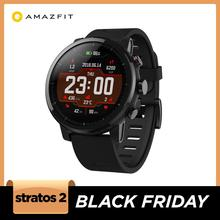 원래 Amazfit Stratos Smartwatch 스마트 워치 블루투스 GPS 칼로리 카운트 심장 모니터 안드로이드 iOS 전화 50M 방수