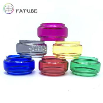 3 sztuk wymiana Pyrex żarówka bubble wyczyść tęczowe szkło TUBE dla Juggerknot V2 5 5ml tanie i dobre opinie FATUBE CN (pochodzenie) ROUND Wielu kolor Ekologiczne