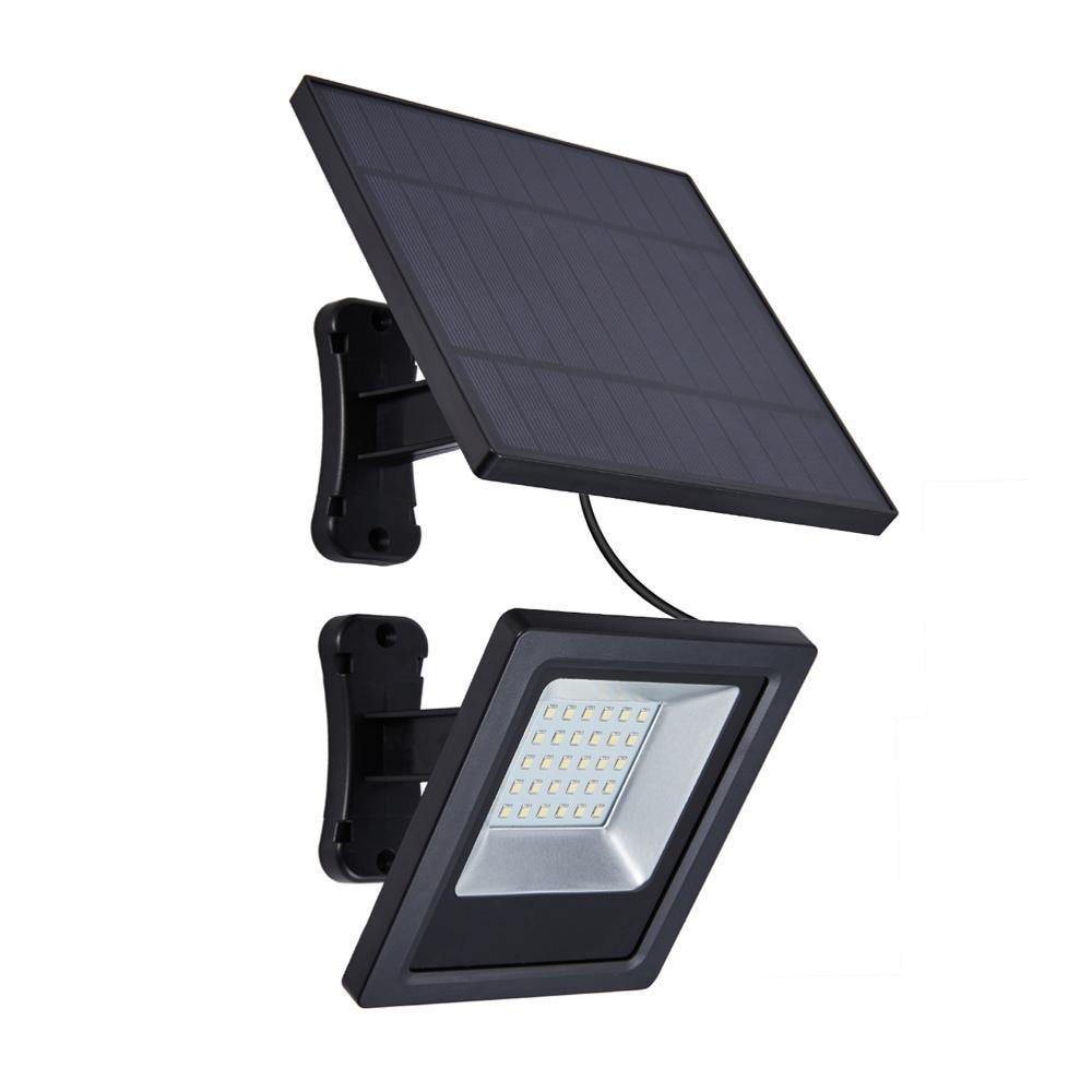 Garden Solar LED Flood Light With Solar Panel 9.8ft Cord Lamp Landscape Solar LED Light Security For Outdoor Lighting