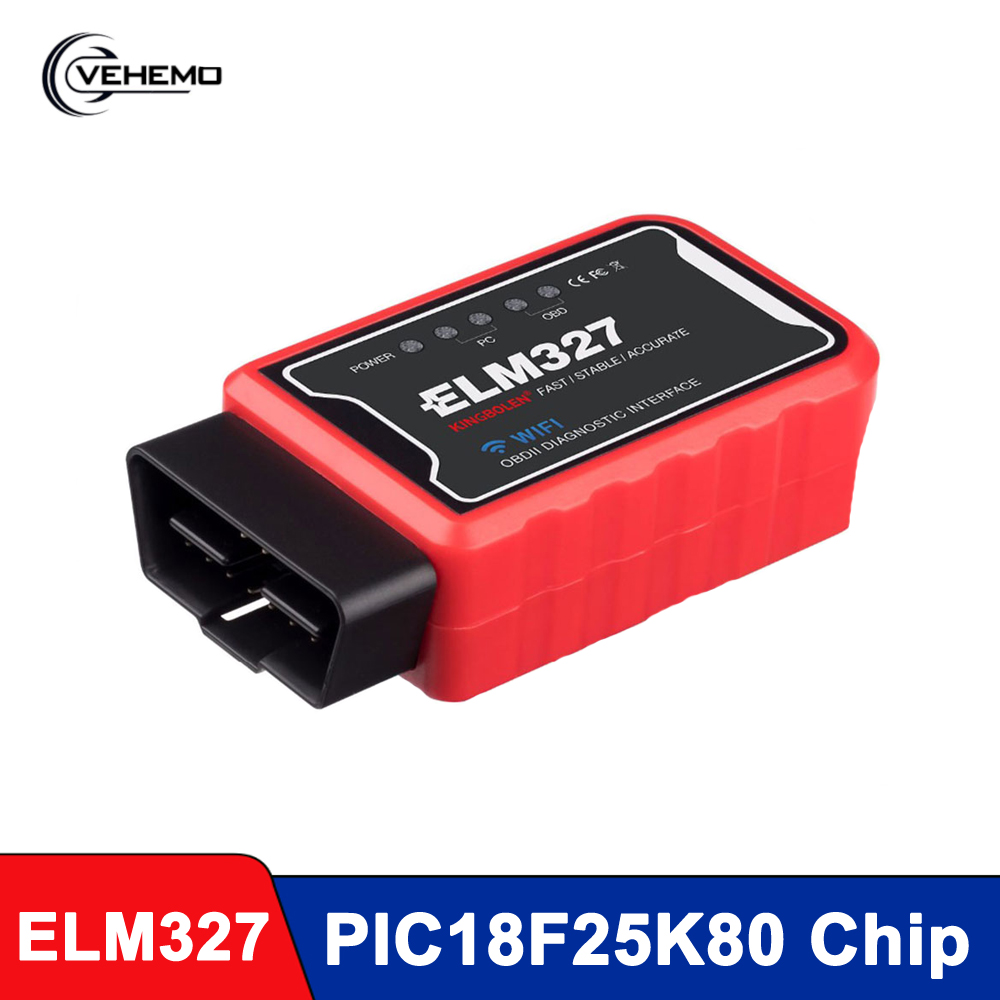 <font><b>ELM327</b></font> Auto Scanner Code Reader WiFi Bluetooth V1.5 PIC18F25K80 Chip OBDII Diagnostic Tool IPhone/Android/PC ELM 327 V <font><b>1.5</b></font> ICAR2 image
