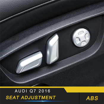 For Audi Q7 4M 2016 2017 2018 Car Styling Seat Adjustment Switch Button Cover Trim Frame Sticker Interior Accessories