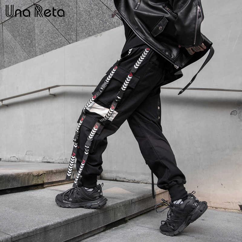 UnaRet Pantolon Erkekler Yeni Rahat Joggers harem pantolon Japon Şerit toka tasarım Sweatpant Hip Hop Harajuku Pantolon Adam Streetwear