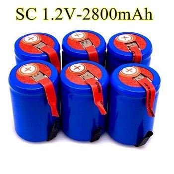 2/4/8/12/16/20 szt. 4/5 SubC Sub C 2800mAh 1.2V Ni-Mh akumulator niebieska komórka z zakładką