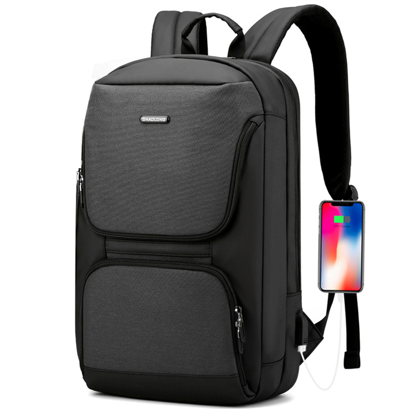 Männer Mode Wasserdichte Multifunktions 15,6 Zoll Laptop Rucksack USB Lade Notebook Rucksack Schule Reisetaschen Pack Für Männliche