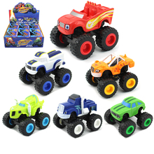 6pcs Monstere מכונות רכב צעצועי רוסית נס מגרסה משאית כלי רכב איור Blazed צעצועים לילדים יום הולדת מתנות