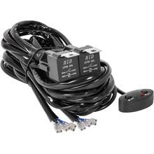 Kit de harnais de câblage 13 pouces pour barre, interrupteur marche-arrêt étanche, harnais robuste, relais de puissance 40A, lame