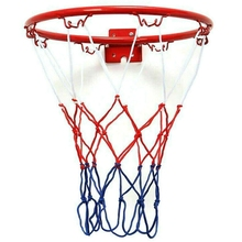 32 см настенный баскетбольное кольцо сетки металлическим ободом подвесная корзина-шар настенный обод с винтами крытый спорт на открытом воз...