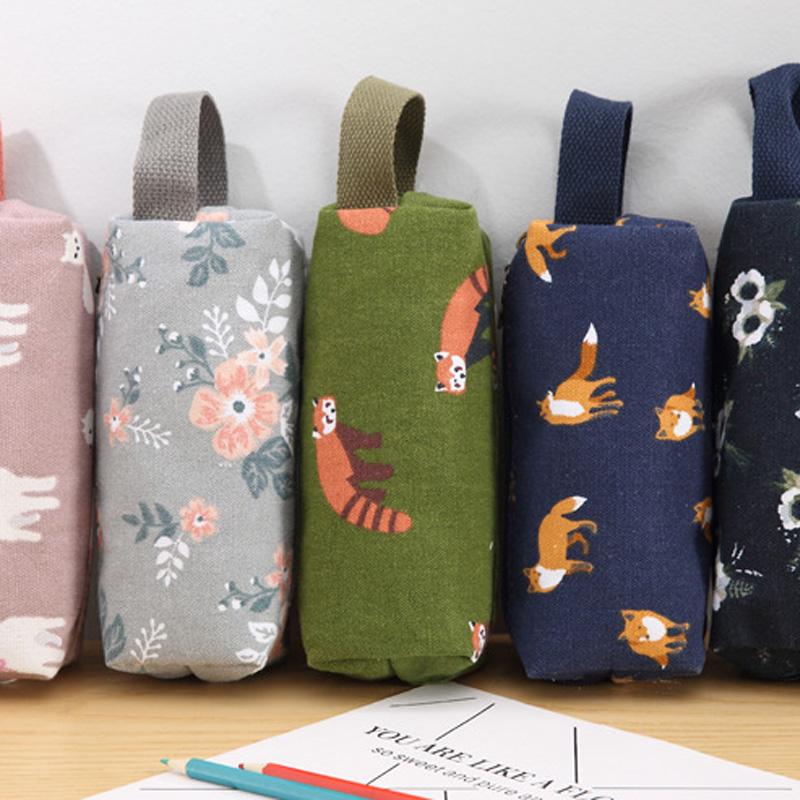Fashion Cartoon Printing Cosmetic Bag Case Novelty Canvas Pencil Case Make Up Bag Portable Multifunction Organizer For Cosmetics