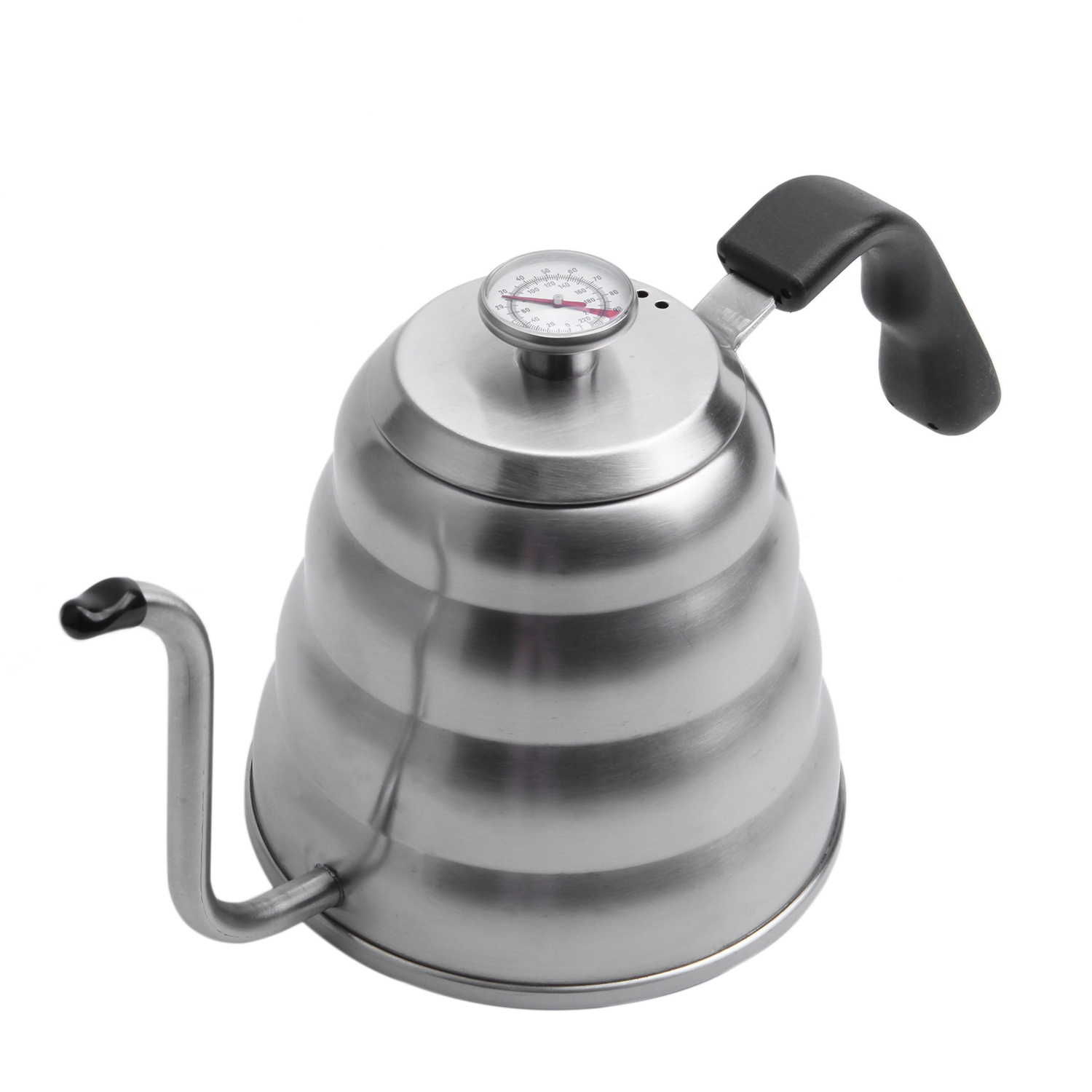 Premium Pour Over <font><b>Coffee</b></font> Kettle with for Precise Temperature 40floz - Gooseneck Tea Kettle - 5 Cup Stainless Steel Teapot for St image
