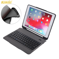 TPU Case For iPad 6th 2018 9.7 Removable keyboard W Pencil Holder Stand Leather soft back Cover For iPad 2017 9.7 Case Keypad